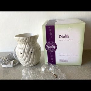 Scentsy Crinkle Full Size Scent Wax Warmer New